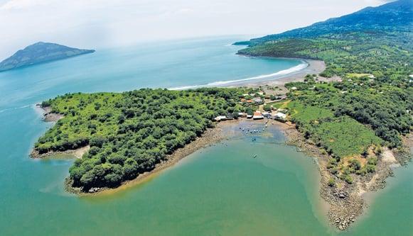 Vuelso a El Salvador, golfo de fonseca.png