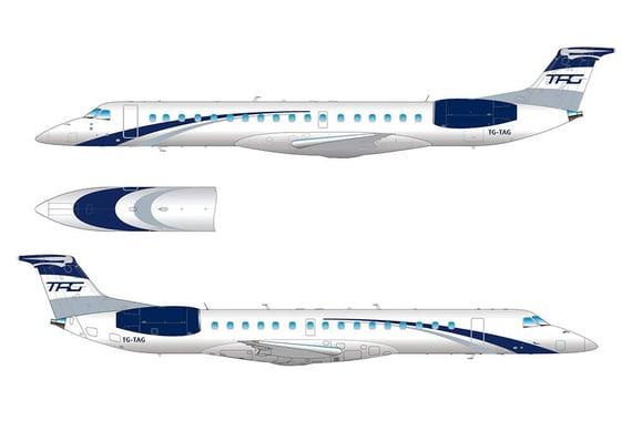 Vuelos a Belice, Diseño del Embraer.jpg