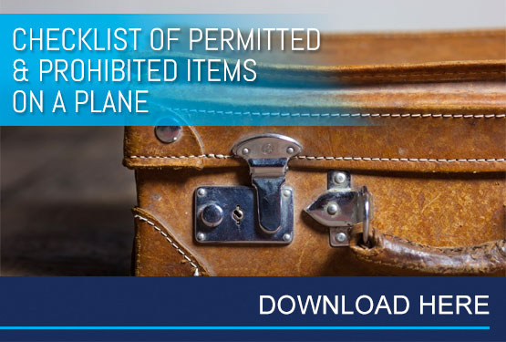 Checklist of Permitted & Prohibited Items on a Plane